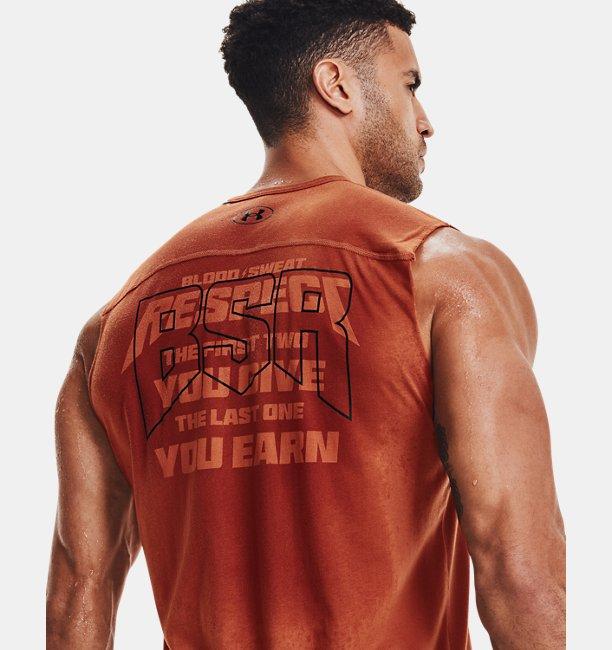 UA PROJECT ROCK  SHOW YOUR〈Blood Sweat Respect〉スリーブレス(トレーニング/MEN)