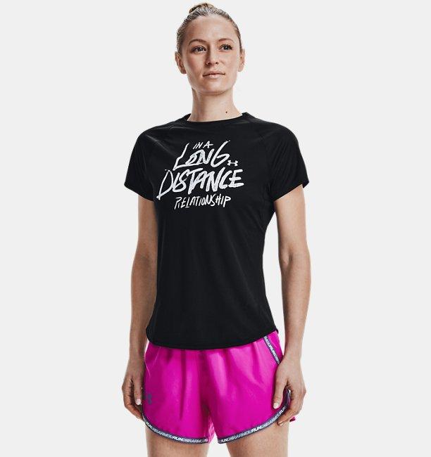 Womens UA Speed Stride Graphic Short Sleeve