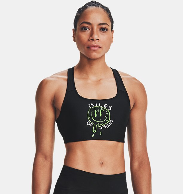 Womens Armour® Mid Crossback Run G Sports Bra