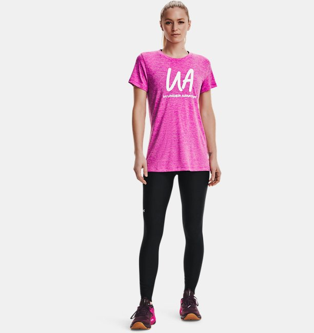 UAテック ツイスト スクリプト UA ショートスリーブ クルー(トレーニング/WOMEN)