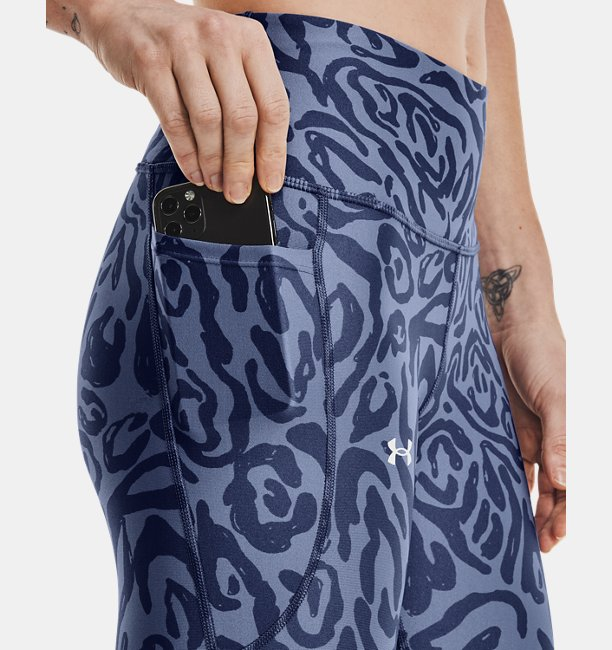 Womens HeatGear® Armour No-Slip Waistband Tonal Print Capris