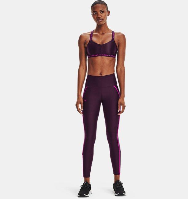 Womens HeatGear® Armour No-Slip Waistband Shine Mesh Full-Length Leggings