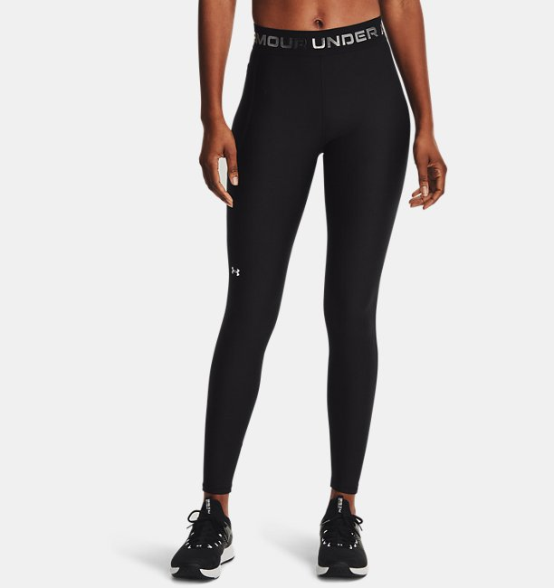Damen HeatGear® Armour Wordmark Waistband Leggings