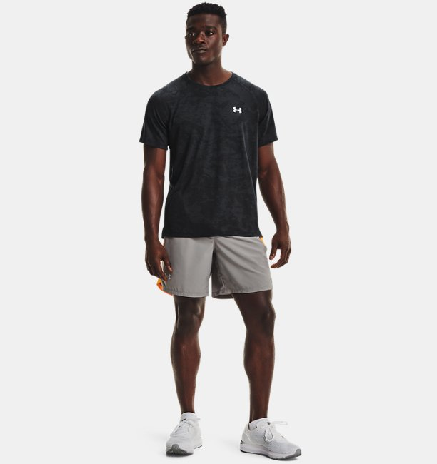 Mens UA Streaker 2.0 Camo Short Sleeve