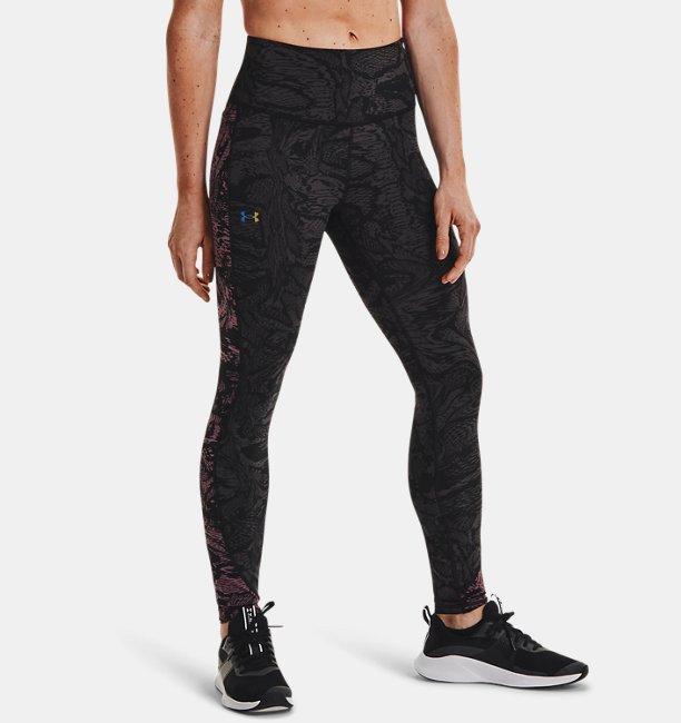 Womens UA RUSH™ HeatGear® No-Slip Waistband Printed Full-Length Leggings
