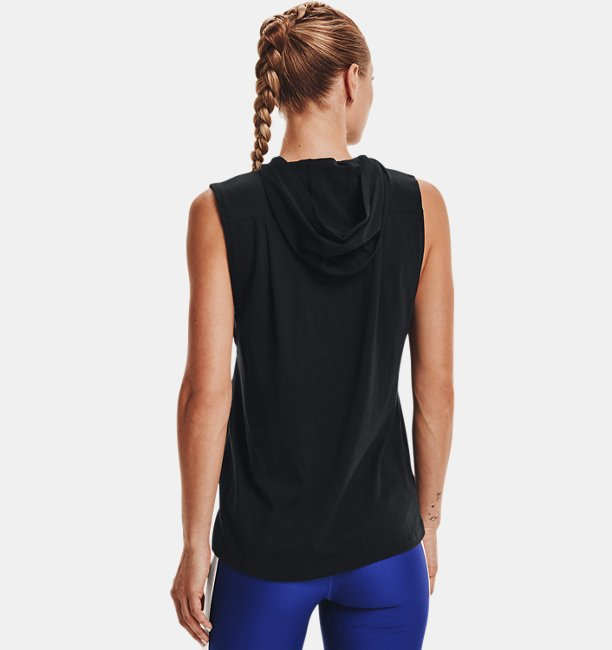 Womens Project Rock Graphic Hooded Tank