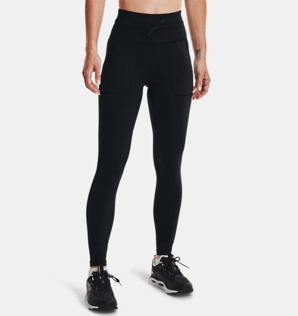 UAハイドラフューズ リブ ポケット レギンス(トレーニング/WOMEN)