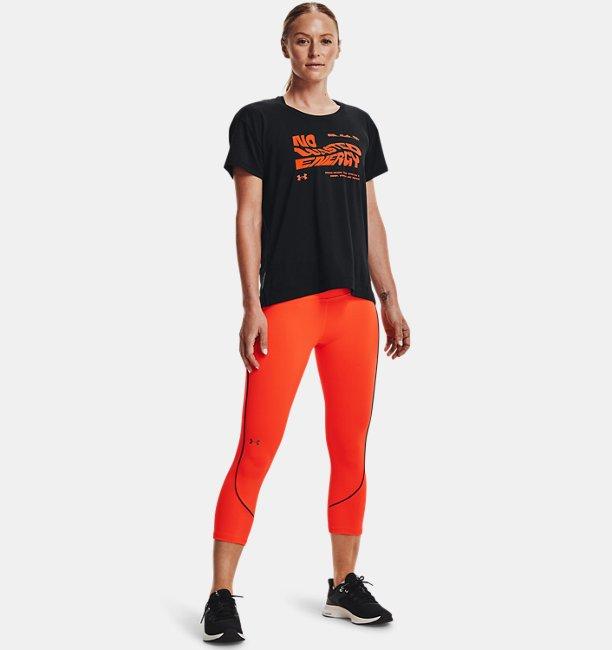 Womens UA RUSH™ HeatGear® No-Slip Waistband Mesh Pocket Capris