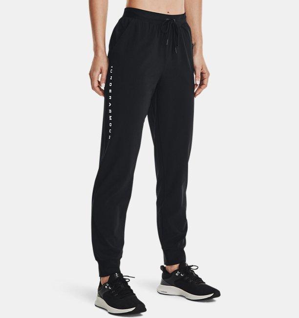 Womens UA Armour Sport Woven Wordmark Pants