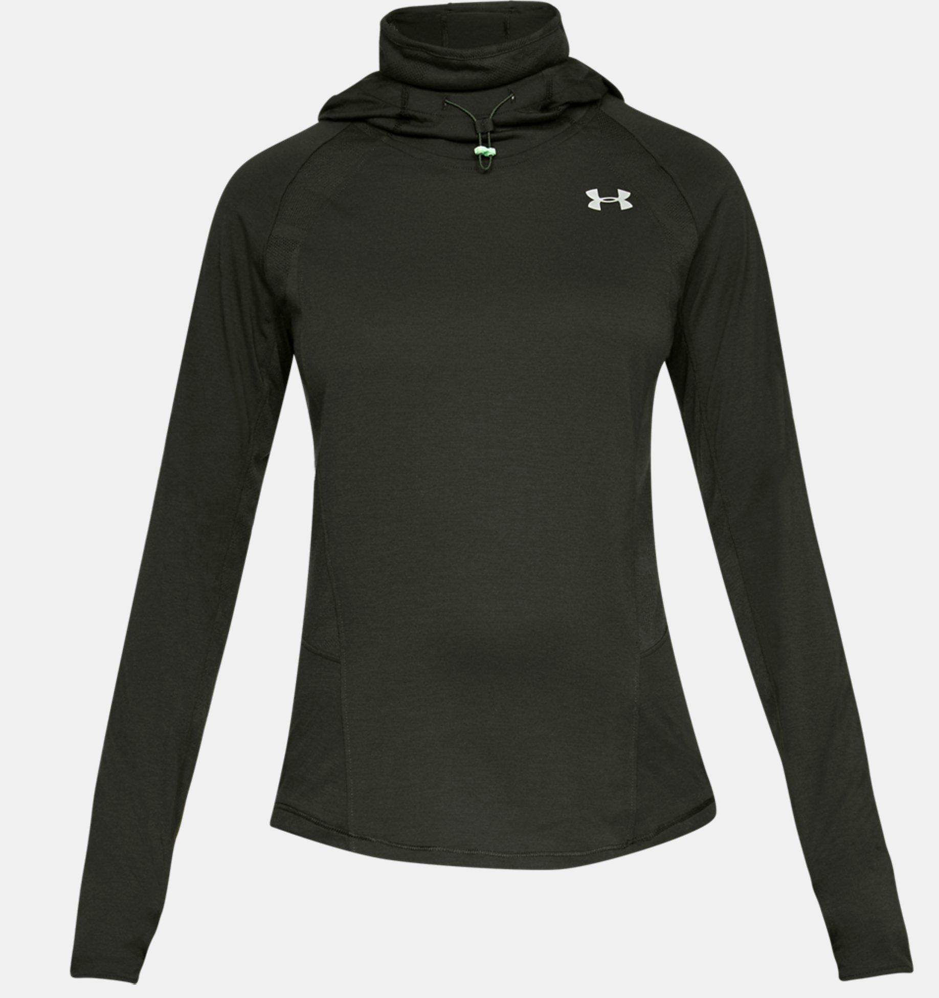 Sweat à capuche à col roulé UA Microthread Swyft pour femme   Under ... ca184e2be537