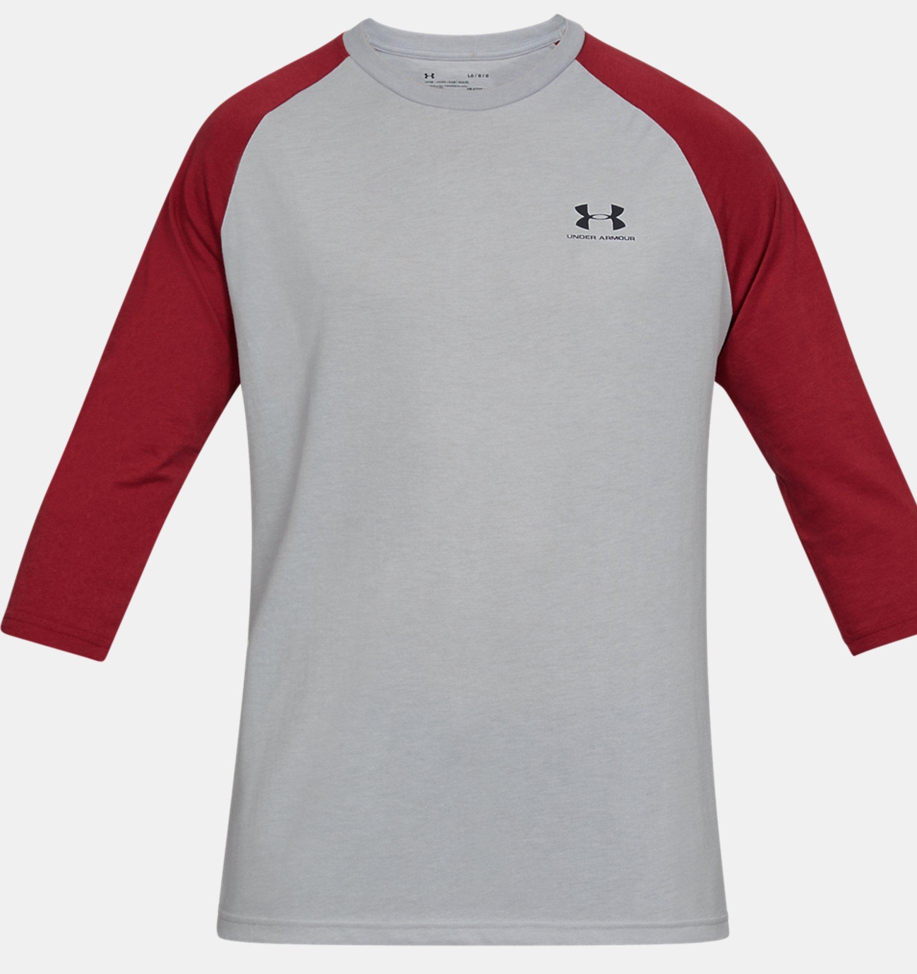 Camiseta de mangas tres cuartos UA Sportstyle Left Chest para hombre ...