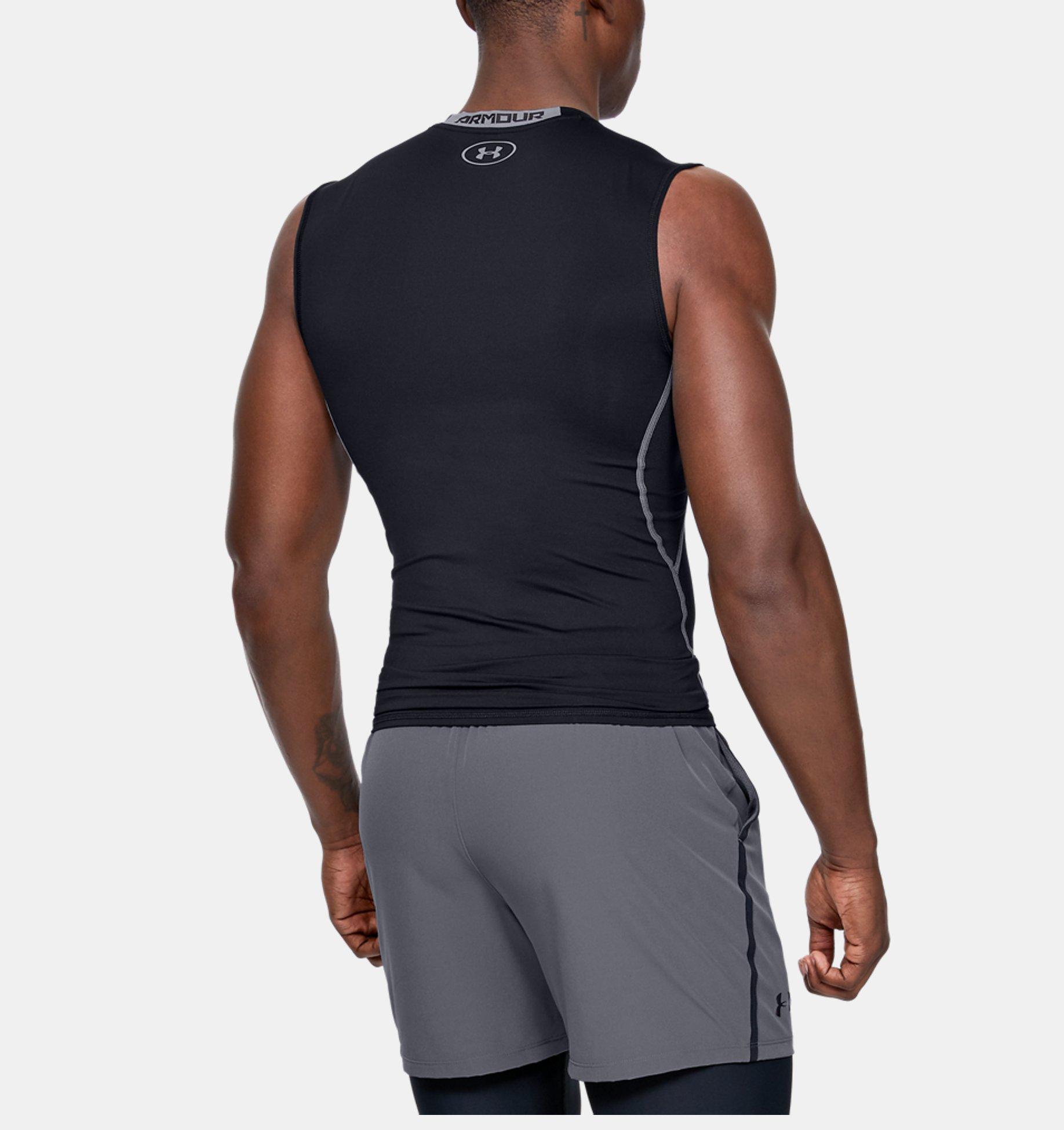 8d4ff457 Men's UA HeatGear® Armour Sleeveless Compression Shirt | Under Armour NZ
