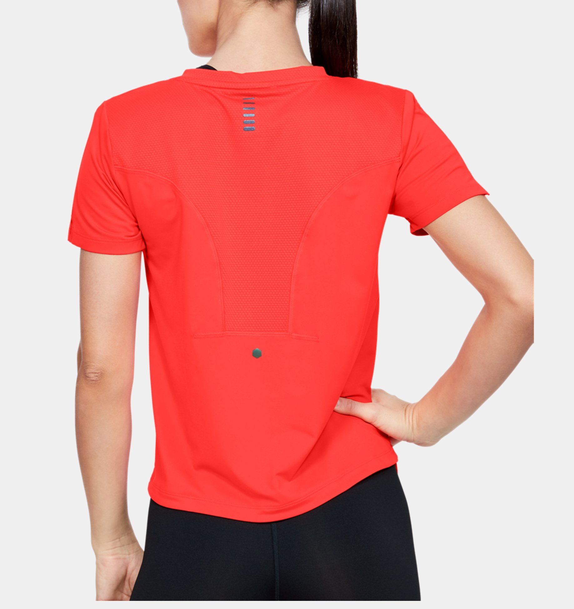 mode designer 12c85 5e2b7 T-shirt à manches courtes UA RUSH Run HeatGear® pour femme ...