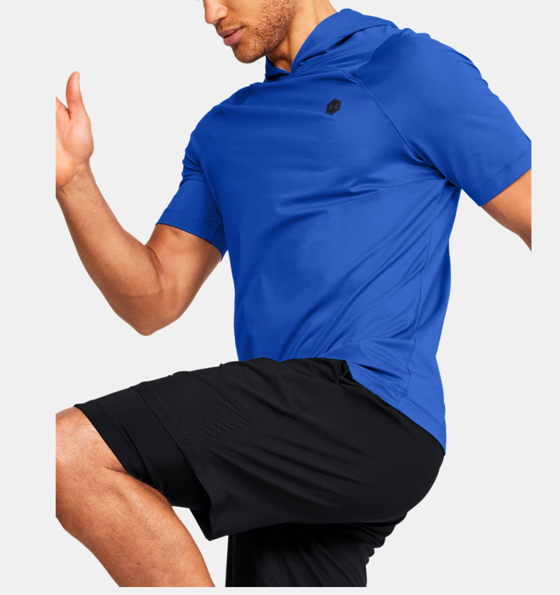 Sweat à capuche et manches courtes UA RUSH™ HeatGear® pour
