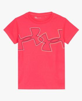걸즈 프리스쿨 UA 엘리베이트 브랜드 로고 반팔 티셔츠