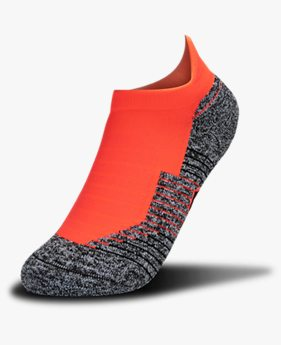 Adult UA Run Cushion No Show Tab Upstream Camo Socks