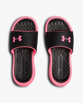 Girls' UA Playmaker Fixed Strap Slides