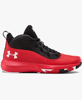Grade School UA Lockdown 4 Basketball Shoes
