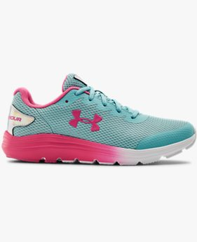 Grade School UA Surge 2 Prism Running Shoes