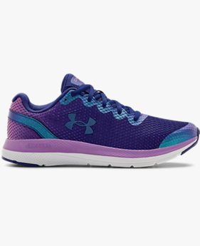 Girls' Grade School UA Charged Impulse Frosty Running Shoes