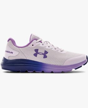 Girls' Grade School UA Surge 2 Frosty Running Shoes