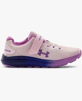 Girls' Pre-School UA Surge 2 AC Frosty Running Shoes