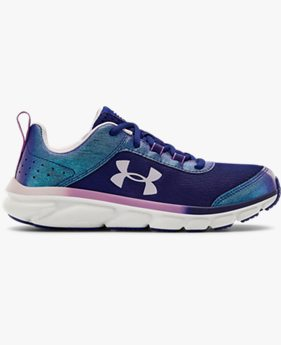 Girls' Grade School UA Assert 8 Frosty Running Shoes