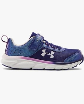 Girls' Pre-School UA Assert 8 AC Frosty Running Shoes
