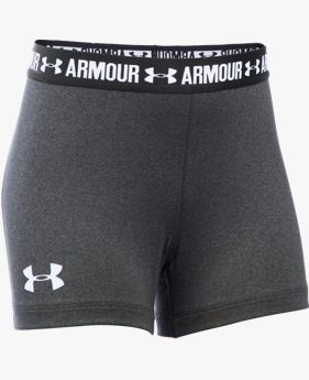 "Shorts UA HeatGear® Armour 3"" Infantil Feminino"