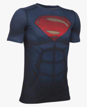 Camiseta UA Alter Ego Superman Infantil Masculina