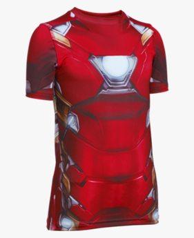 Camiseta UA Alter Ego Homem de Ferro Infantil Masculina