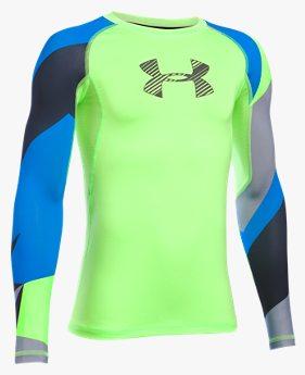 Boys' HeatGear® Armour Printed Long Sleeve