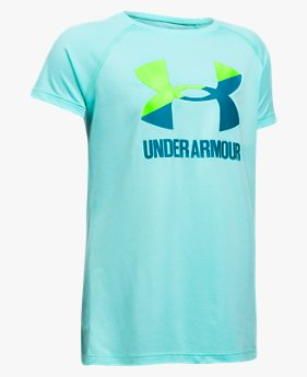 Camiseta de Treino Infantil Feminina Under Armour Big Logo