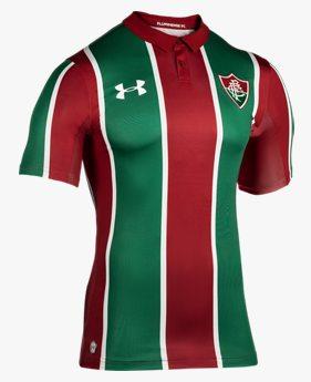 Camiseta UA Fluminense Home Oficial Infantil