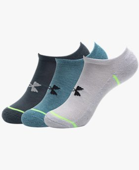 Youth UA Phenom No Show – 3-Pack Socks