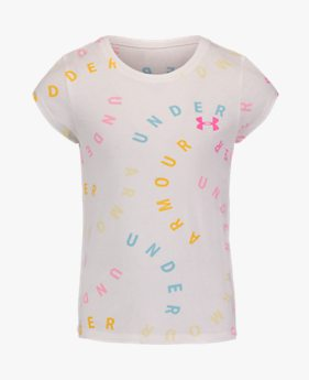 Girls' Pre-School UA UA Multi Swerve Logo Short Sleeve