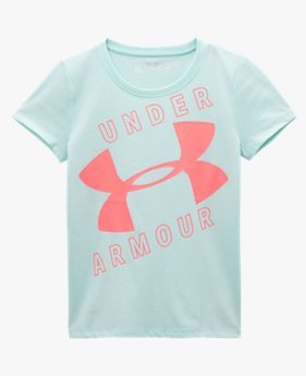 Girls' Pre-School UA Jumbo Logo Slant Short Sleeve