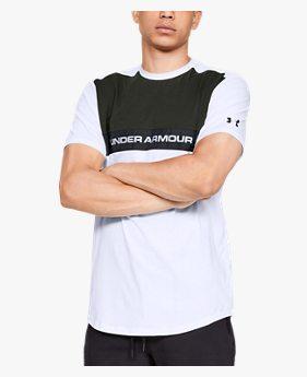 남성 UA 스포츠스타일 우븐 스크립트 티셔츠