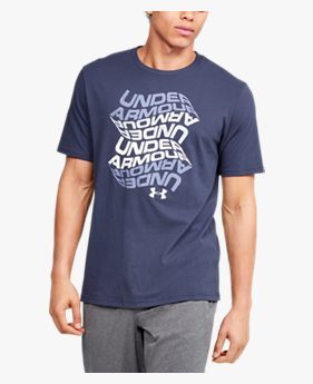 Camiseta de Treino Masculina Under Armour Wordmark Wave SS