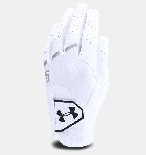 Under Armour Boys UA CoolSwitch Golf Glove — Spieth Jr. Edition White RSM