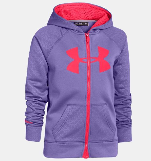 8d6ff314 Girls' Armour® Fleece Storm Big Logo Full Zip | Under Armour UK