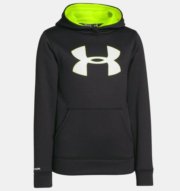 1bf4dc82c Boys' UA Storm Armour® Fleece Big Logo Hoodie | Under Armour UK
