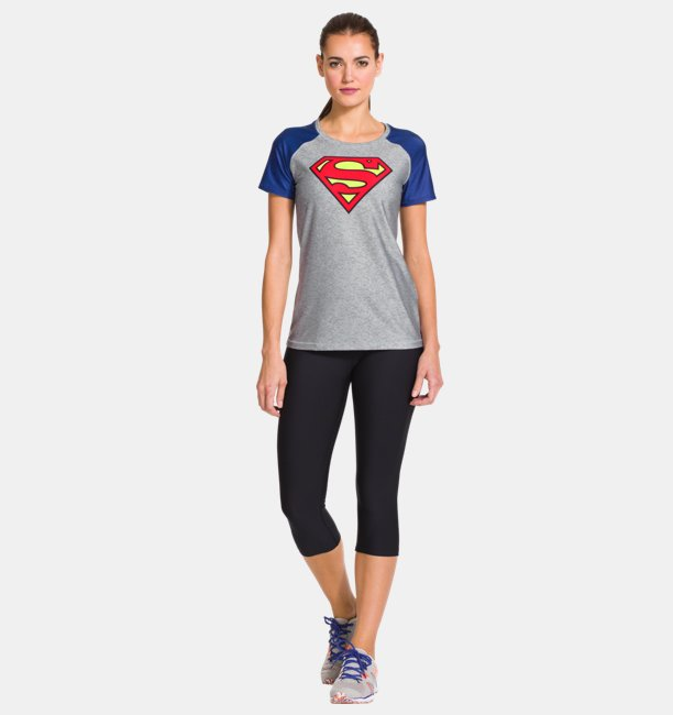 60fc4cc5 Womens Under Armour® Transform Yourself HeatGear® Sonic Supergirl T-Shirt