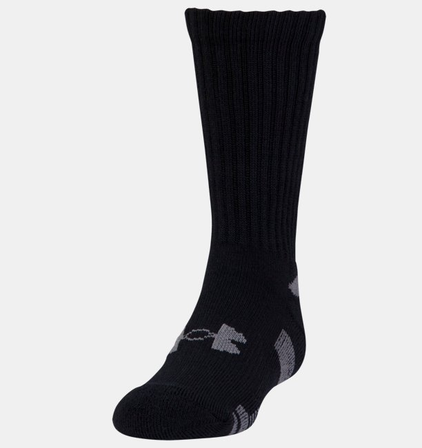 Boys UA HeatGear® Crew Socks - 3-Pack
