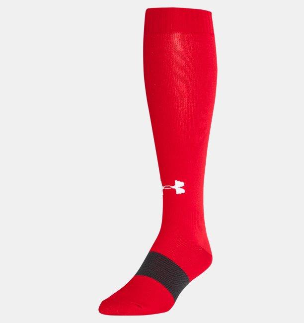 Calcetas para fútbol color liso UA Over-The-Calf para hombre