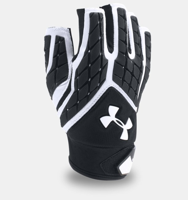 Mens UA Combat V Half-Finger Football Gloves