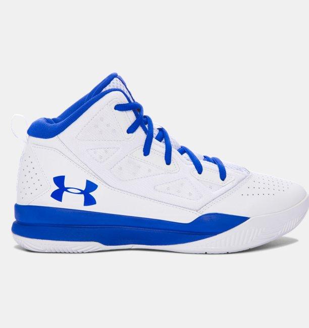 Zapatillas de baloncesto de bota media Grade School UA Jet