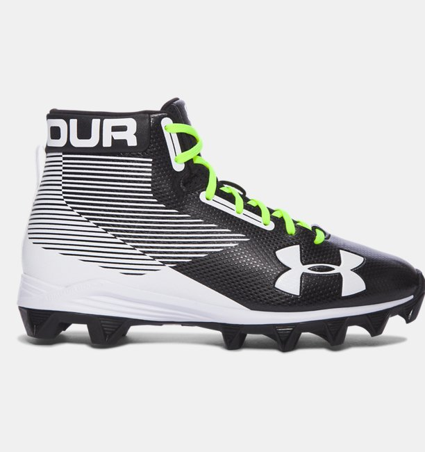 Boys UA Hammer™ Mid Rubber Molded Jr. Football Cleats