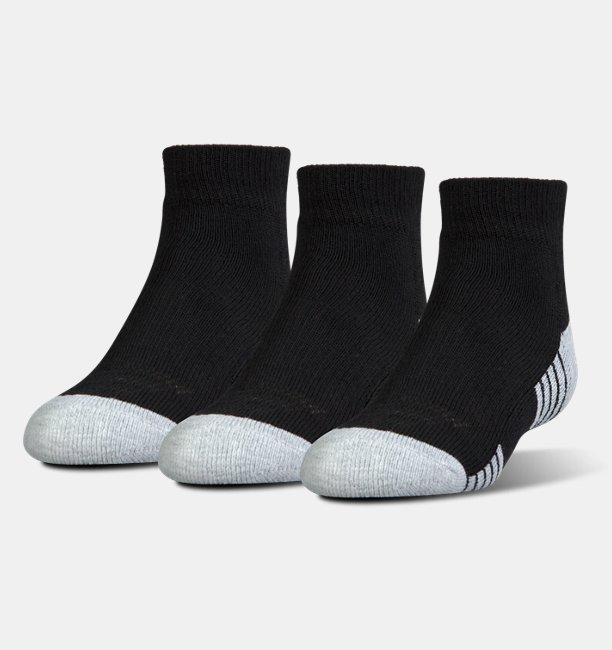 Kids HeatGear® Tech Lo Cut Socks 3-Pack