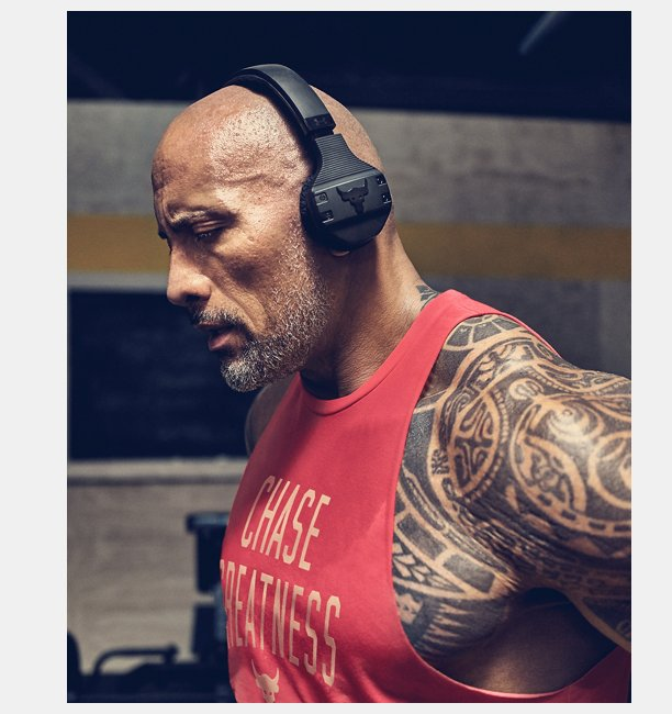 UA Sport Wireless Train Headphones — Project Rock Edition